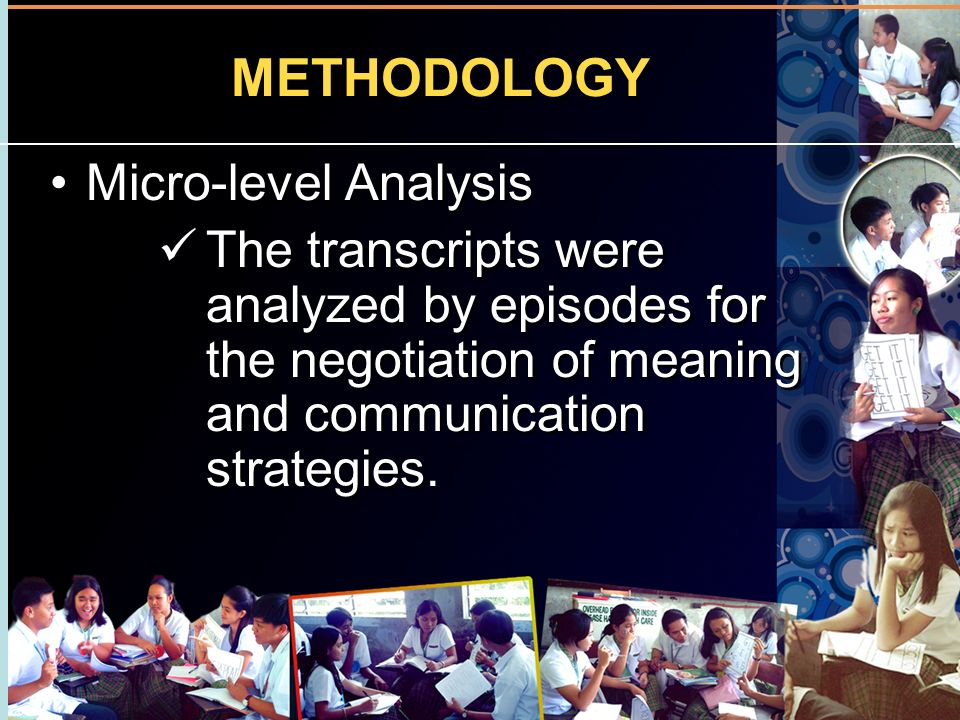 METHODOLOGY Micro-level Analysis
