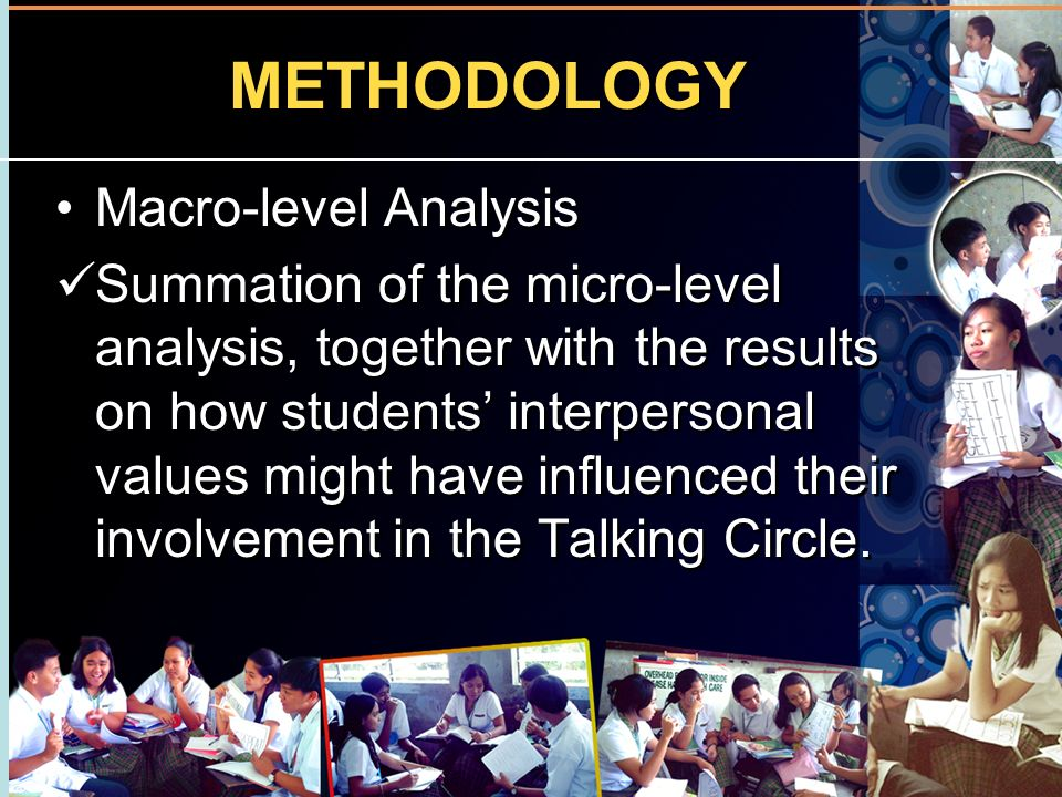 METHODOLOGY Macro-level Analysis