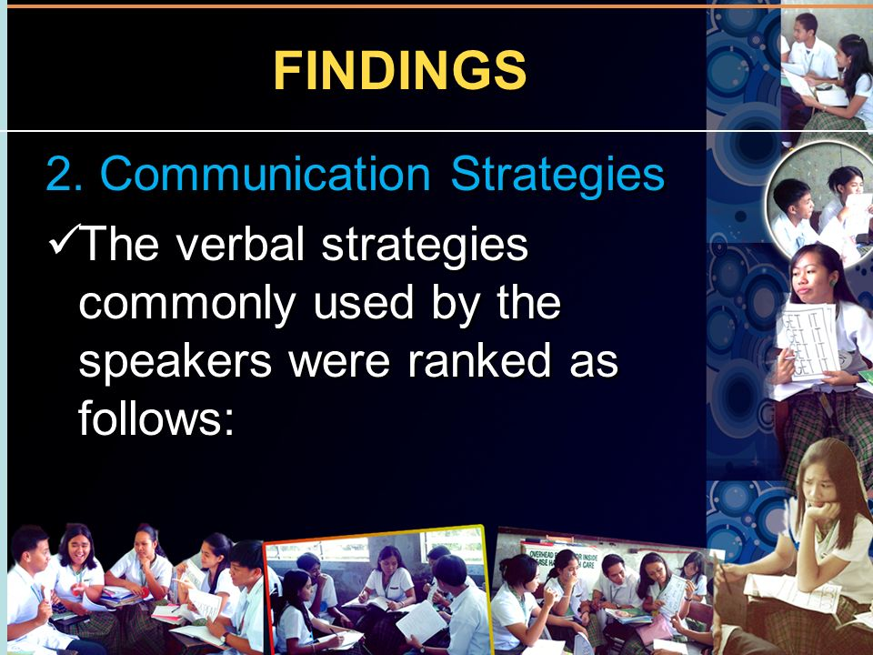 FINDINGS 2. Communication Strategies