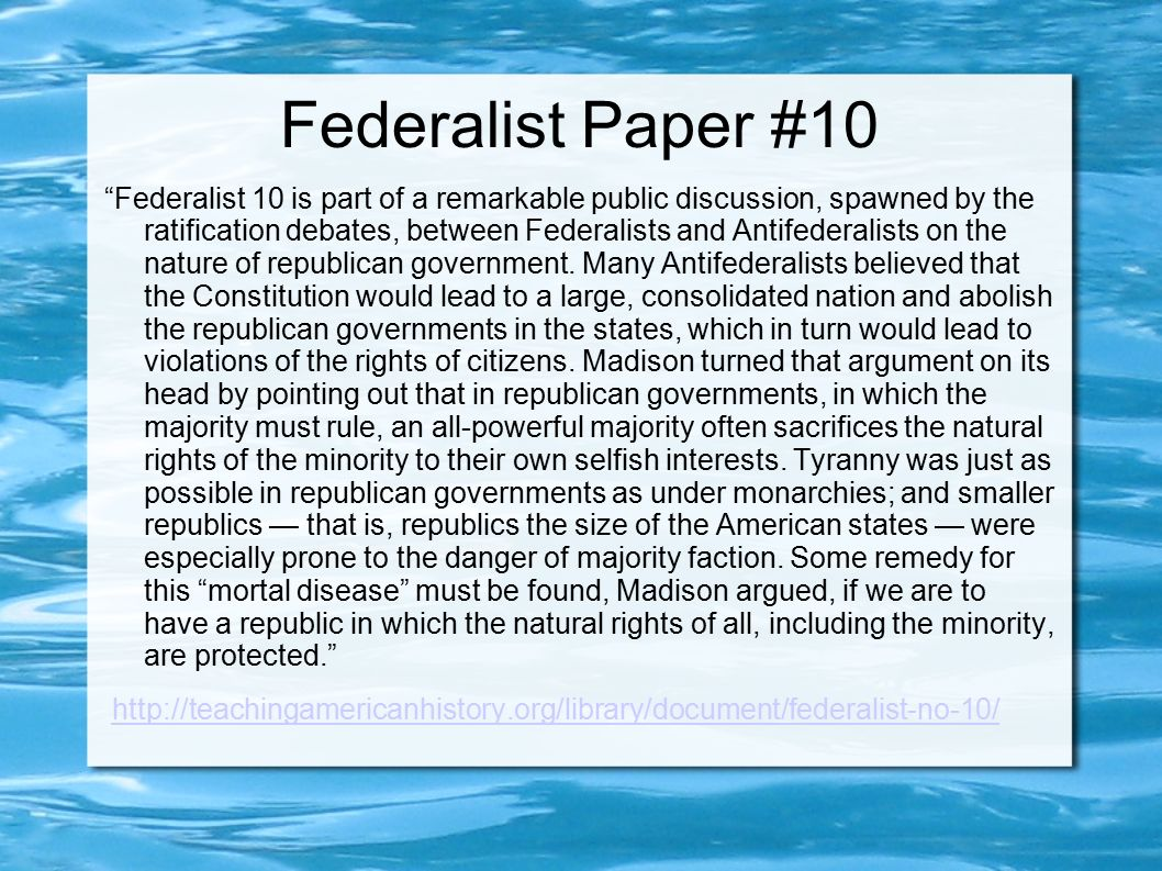 the federalists and anti federalists essay