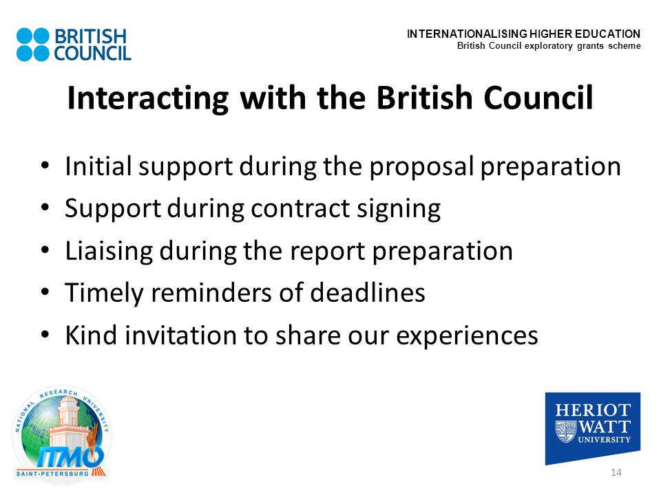 Interacting with the British Council