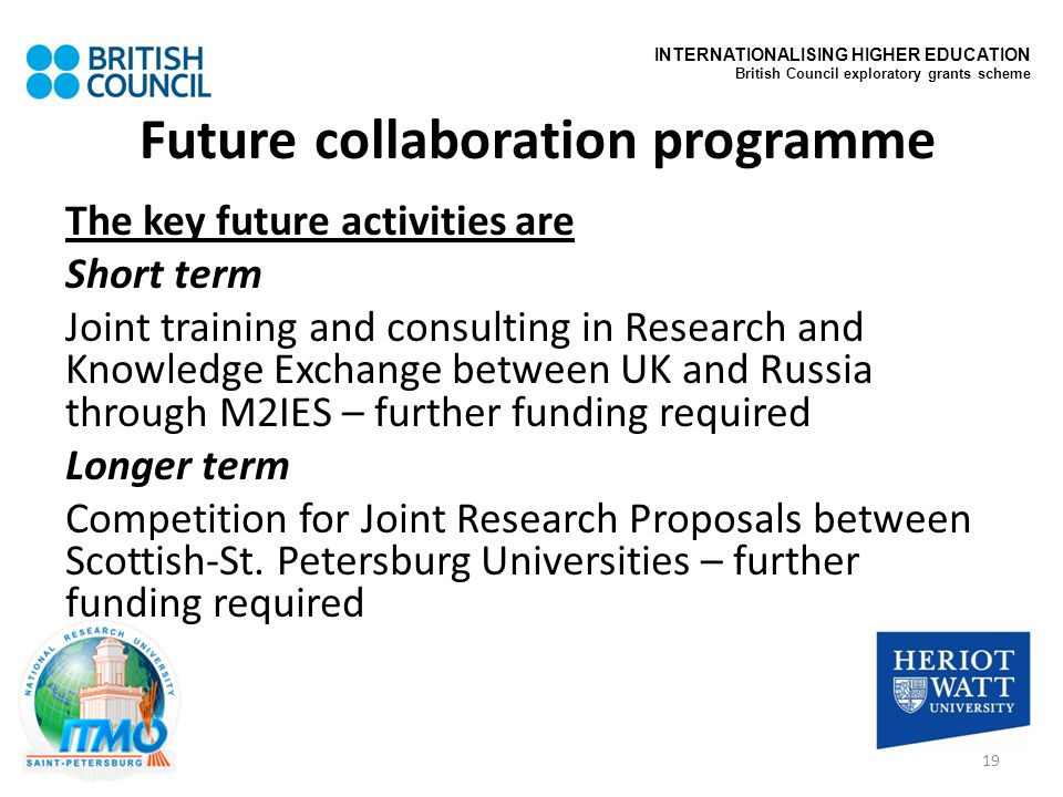 Future collaboration programme