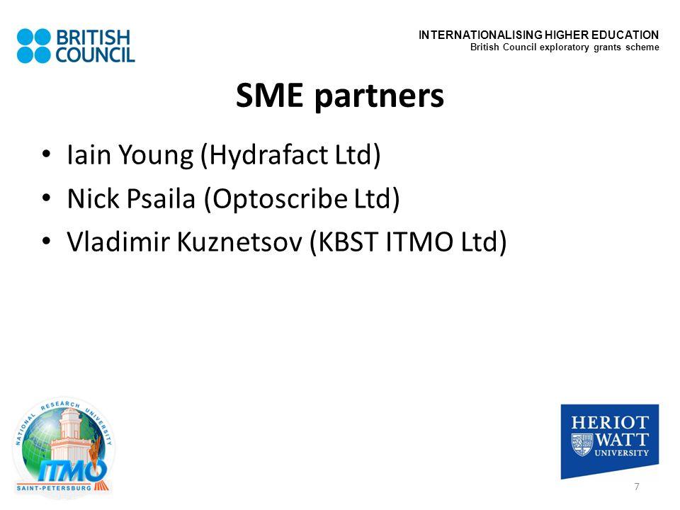 SME partners Iain Young (Hydrafact Ltd) Nick Psaila (Optoscribe Ltd)