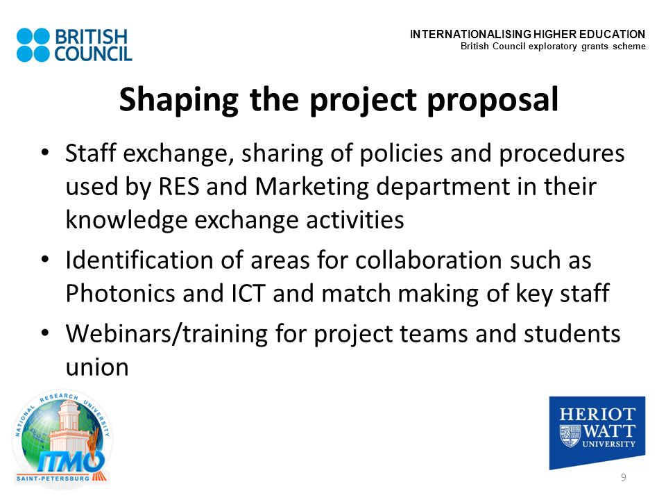 Shaping the project proposal