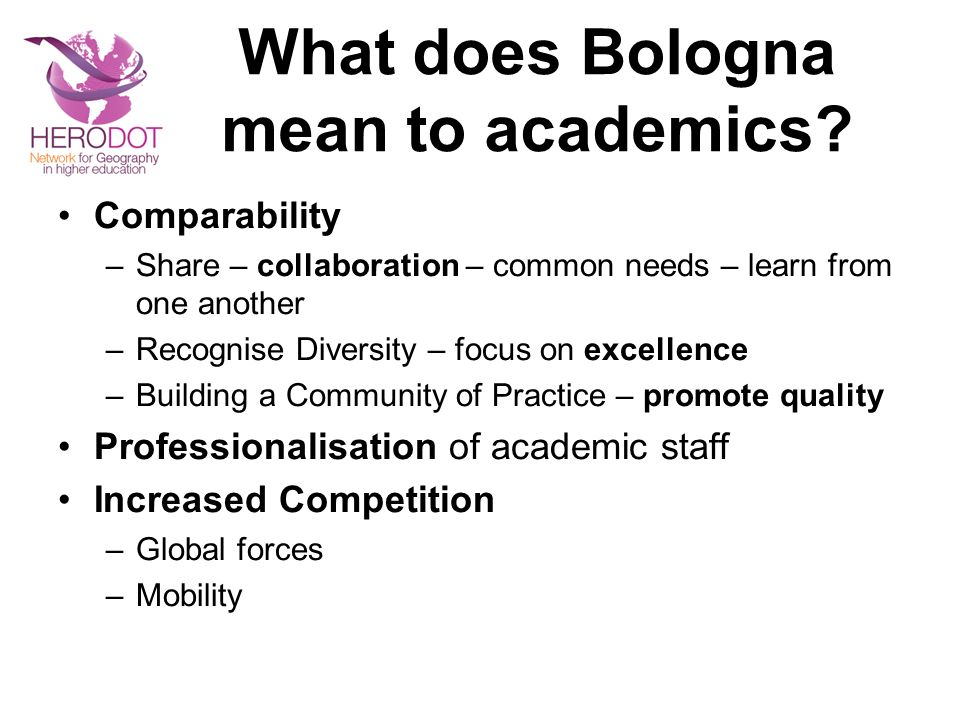What does Bologna mean to academics