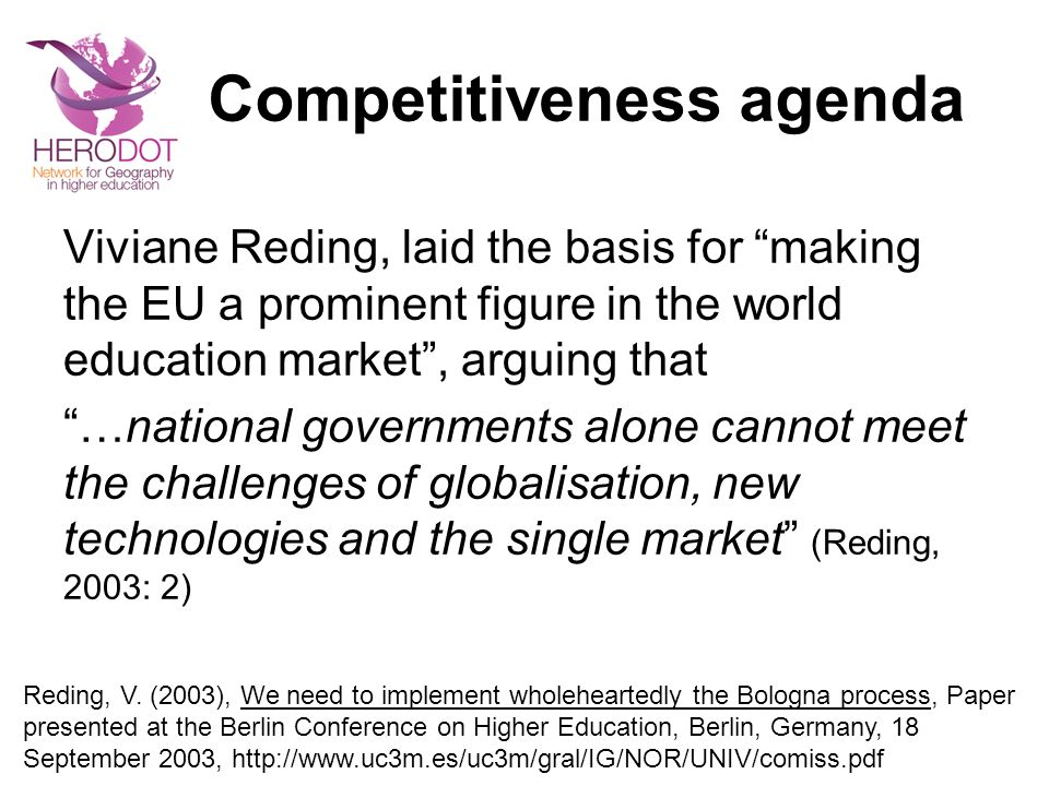 Competitiveness agenda