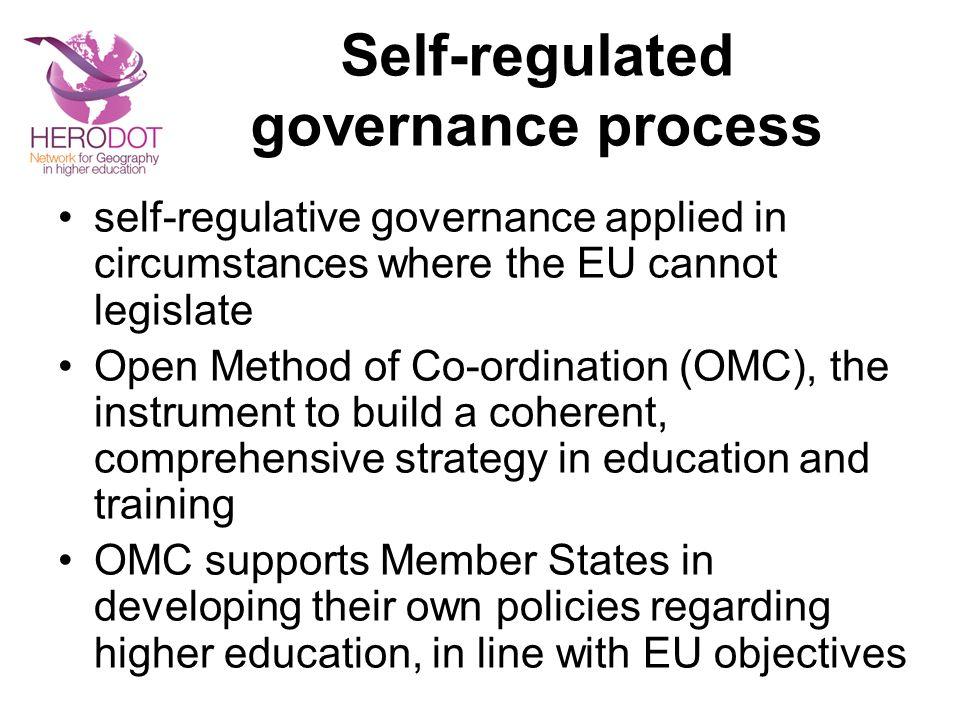 Self-regulated governance process
