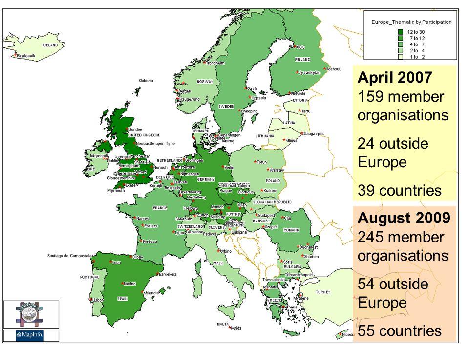 April 2007 159 member organisations