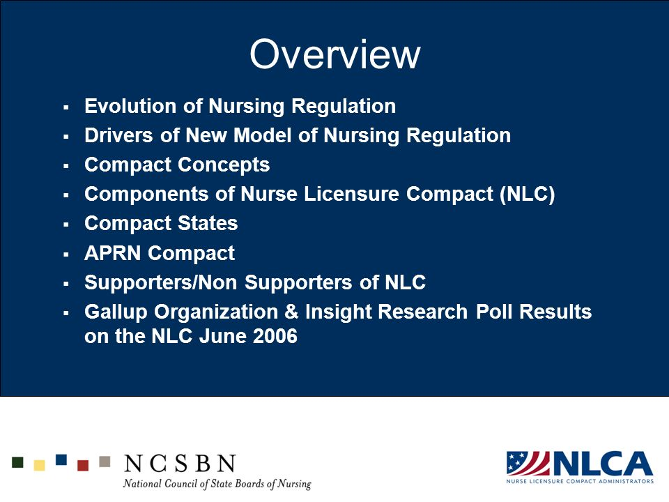 Overview Evolution of Nursing Regulation