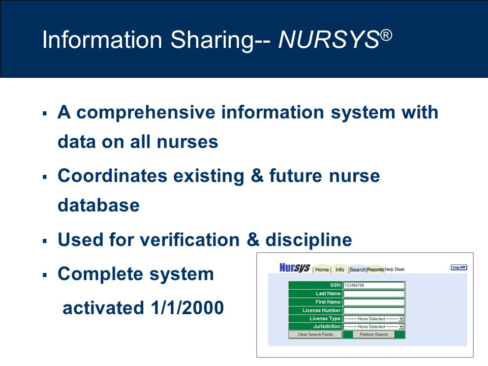 Information Sharing-- NURSYS®