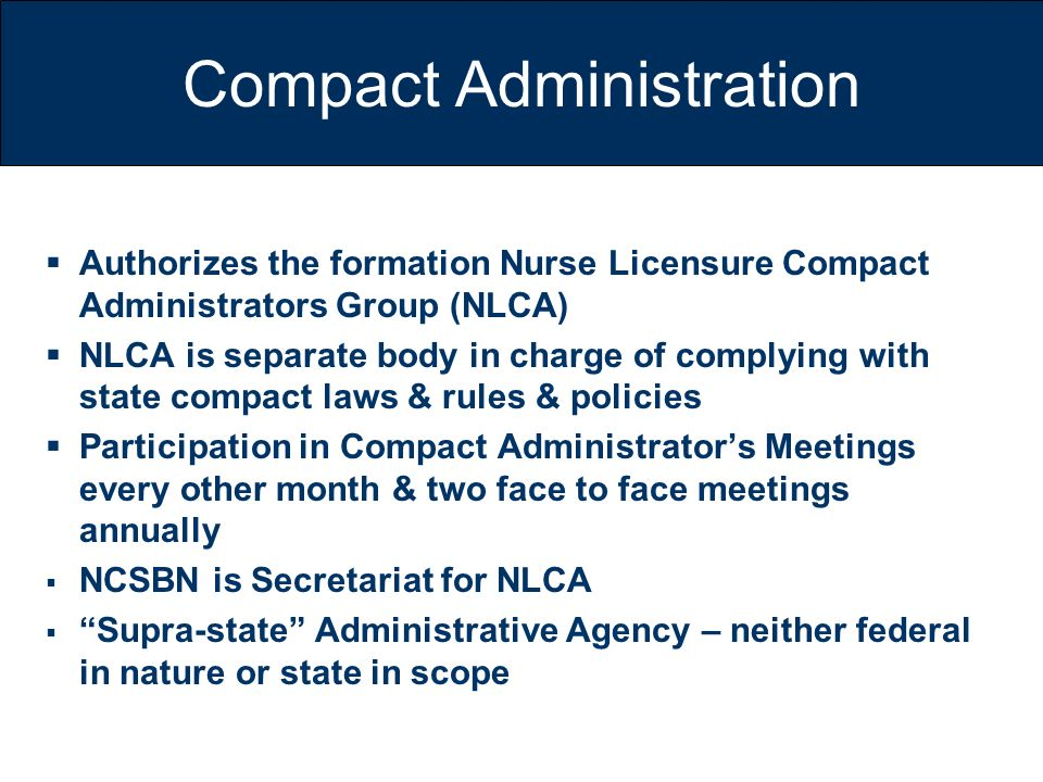 Compact Administration