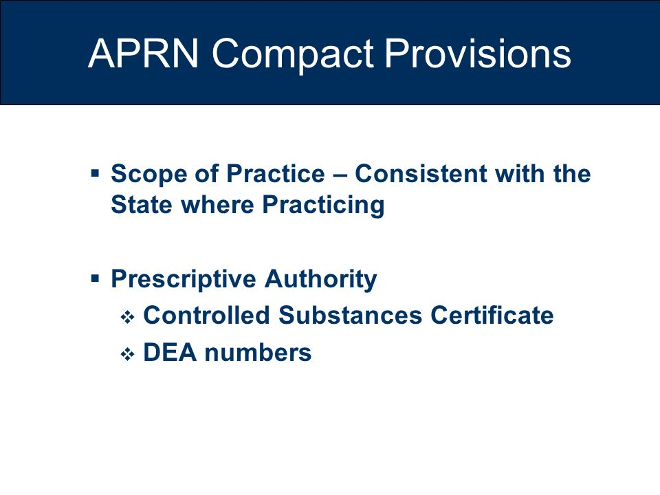 APRN Compact Provisions