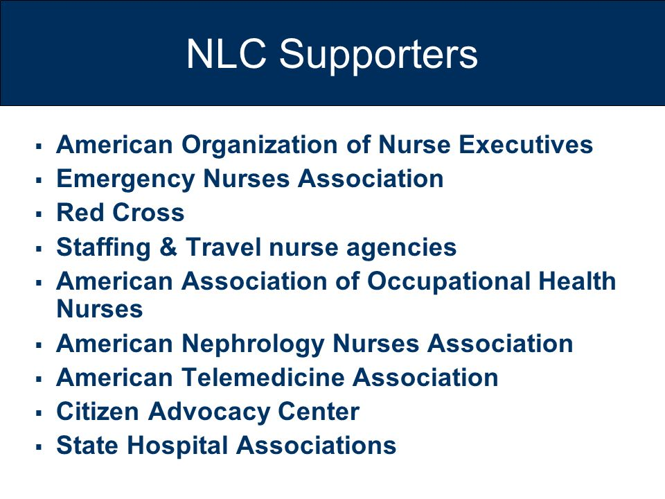 NLC Supporters American Organization of Nurse Executives