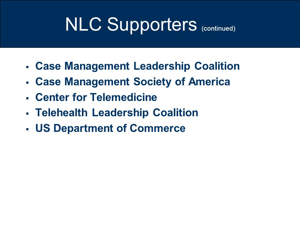 NLC Supporters (continued)