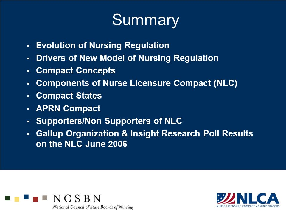 Summary Evolution of Nursing Regulation