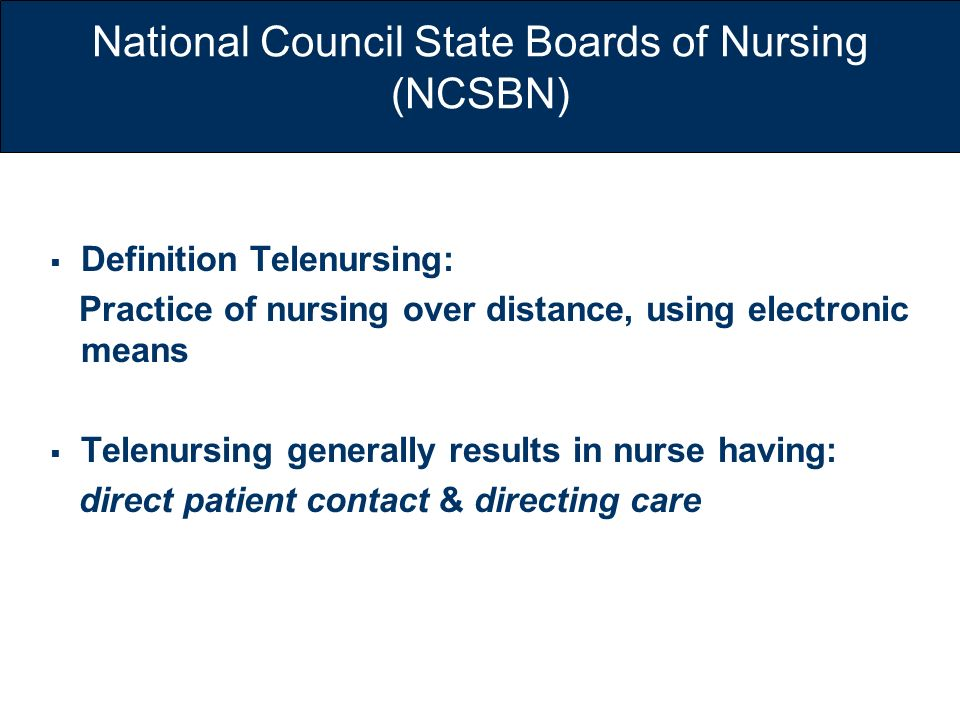 National Council State Boards of Nursing (NCSBN)