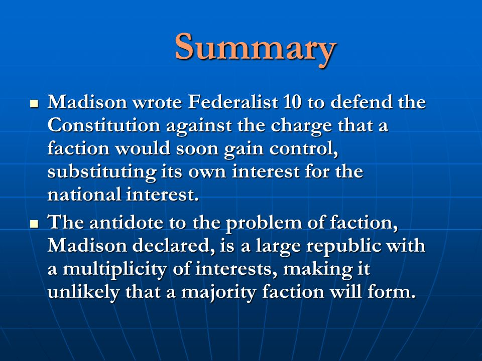 sinitic princely summary of federalist    summary of federalist    to   representation country actuality physical