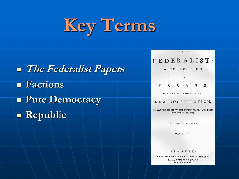Who Are Two Authors of the Federalist Papers?