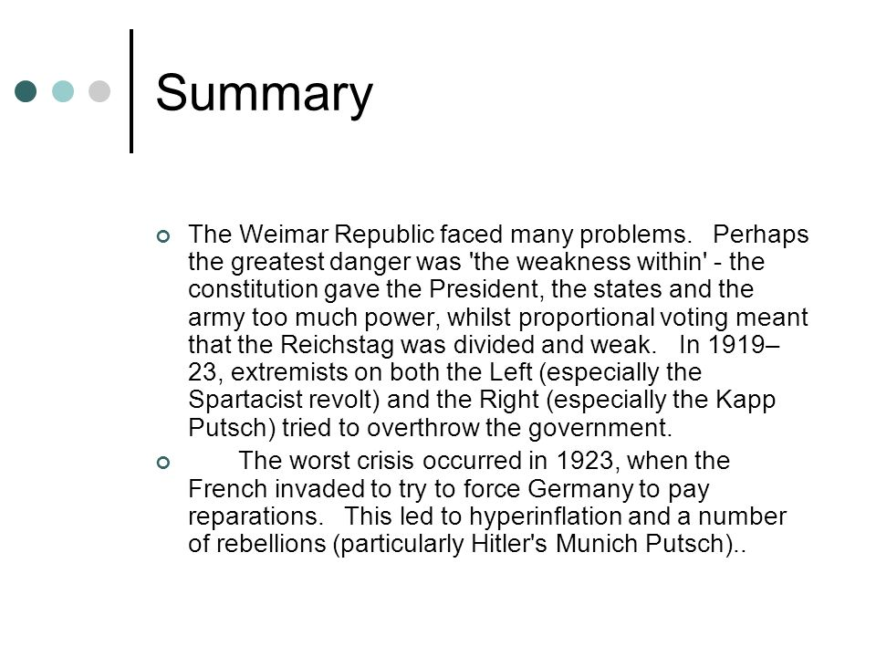 What Was the Weimar Republic?