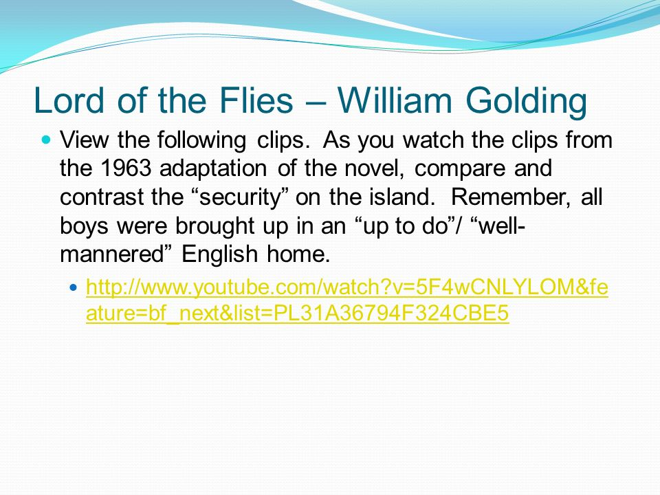 human nature in the novel lord of the flies by william golding In his introduction to william golding's novel the novel suggesting about human nature provide critical analysis of lord of the flies by william golding.