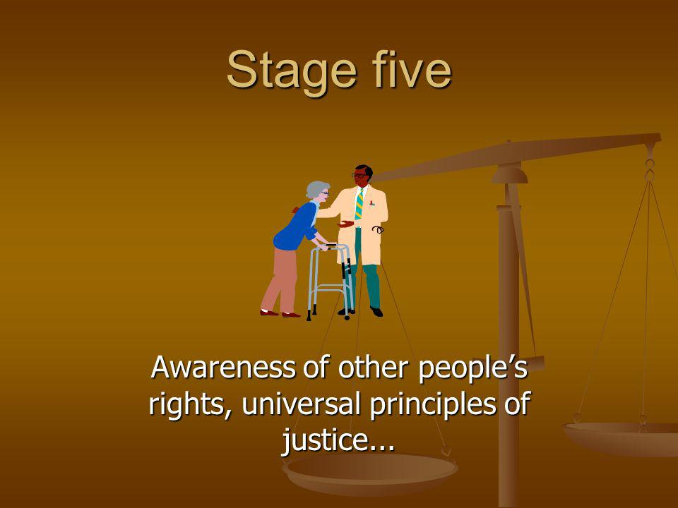 Awareness of other people's rights, universal principles of justice...