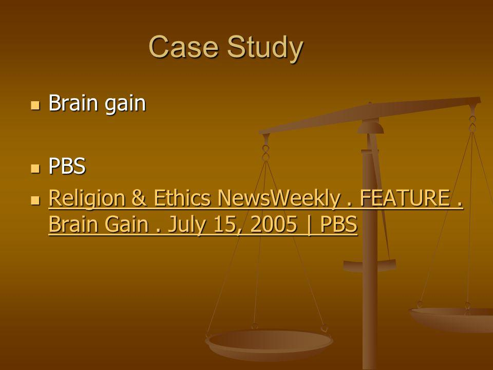 Case Study Brain gain PBS
