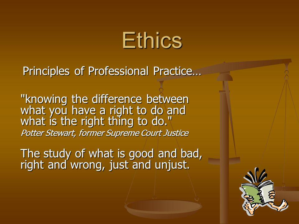 Principles of Professional Practice…