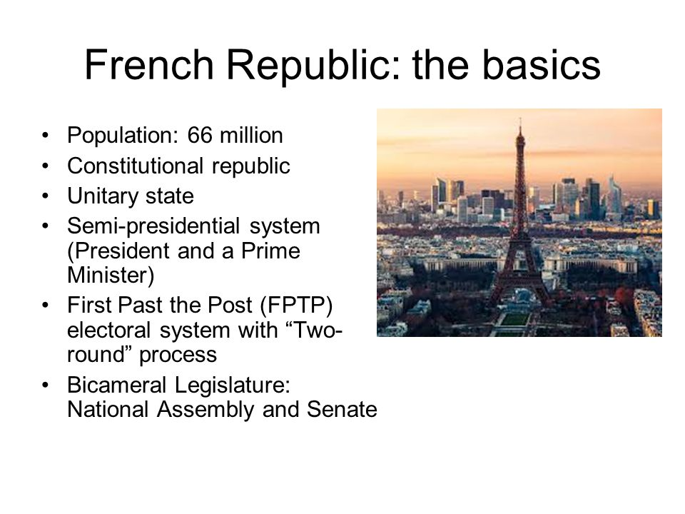 semi presidential system in france