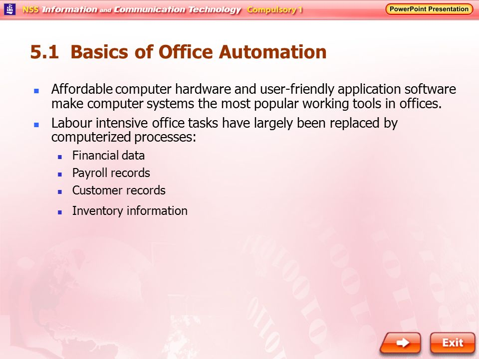 5. 1 basics of office automation ppt video online download.