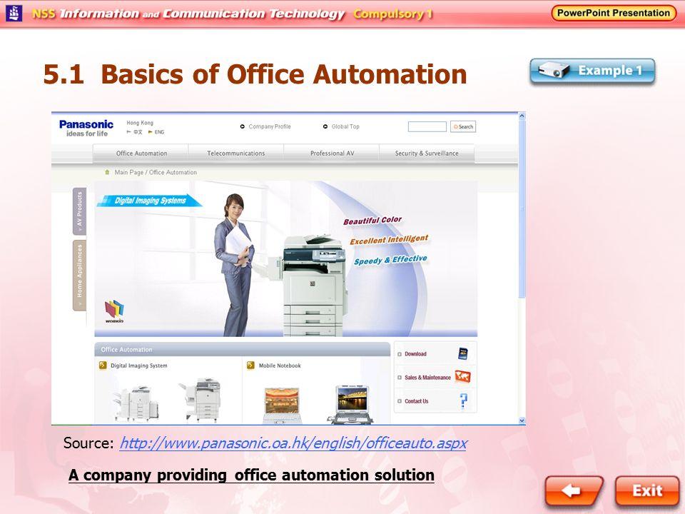 5.1 Basics of Office Automation