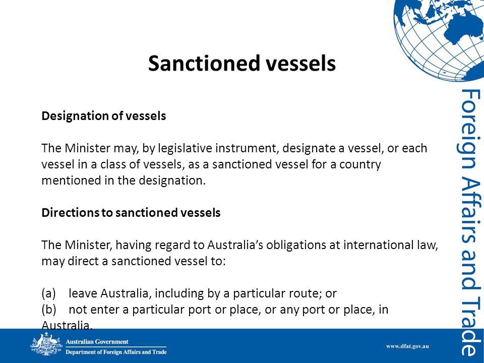 Sanctioned vessels