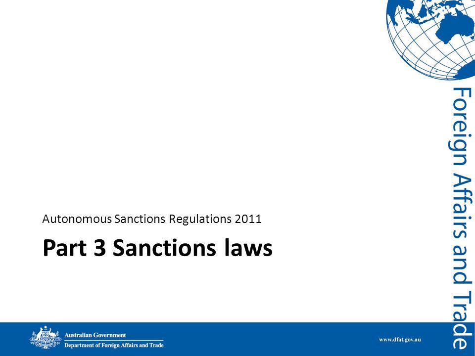 Autonomous Sanctions Regulations 2011