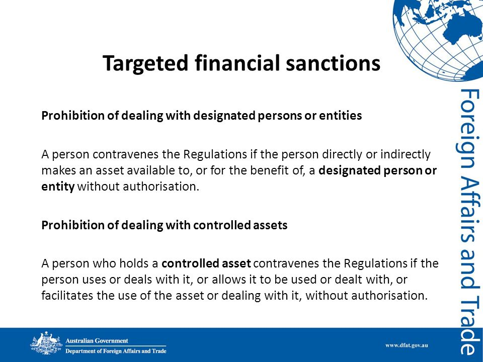 Targeted financial sanctions