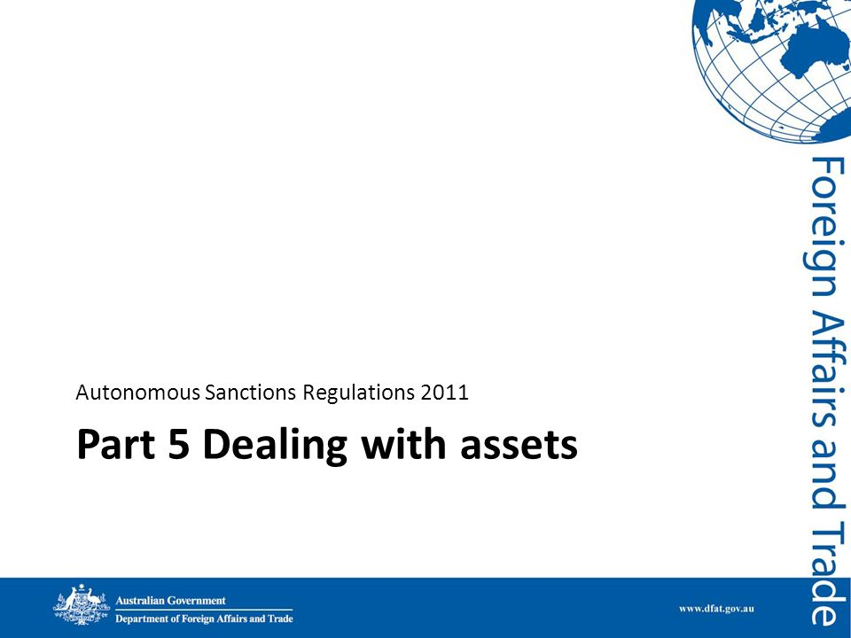 Part 5 Dealing with assets