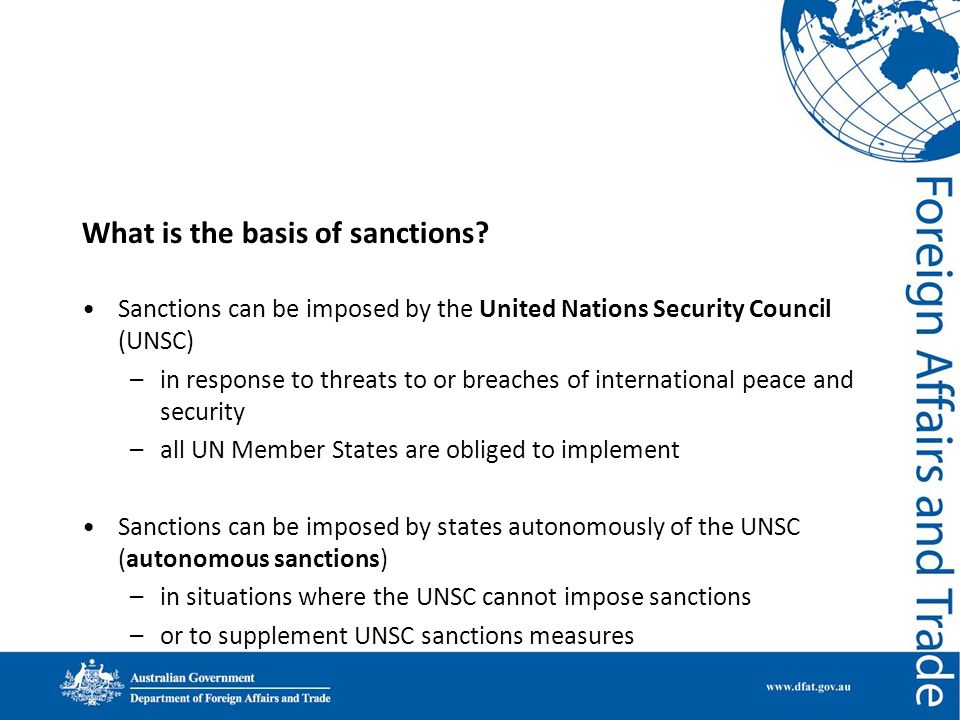 What is the basis of sanctions