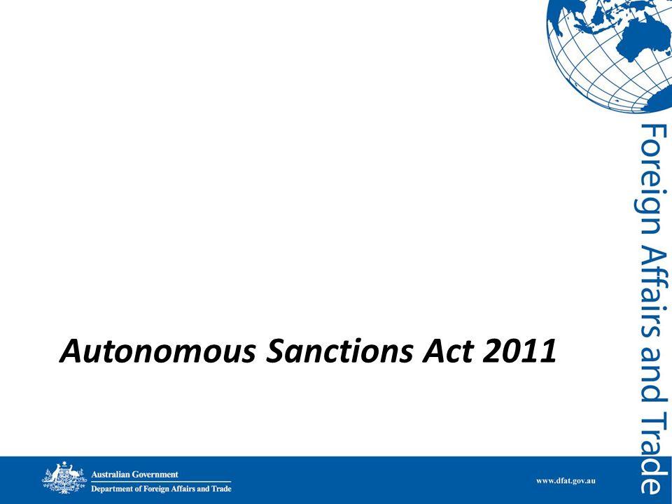 Autonomous Sanctions Act 2011