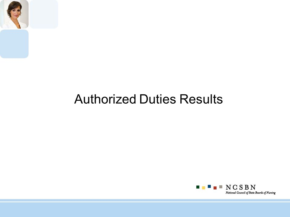 Authorized Duties Results
