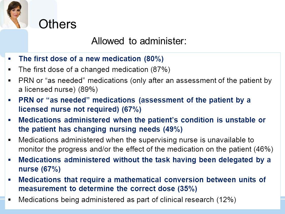Allowed to administer: