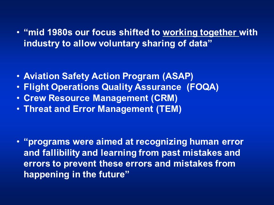 Aviation Safety Action Program (ASAP)