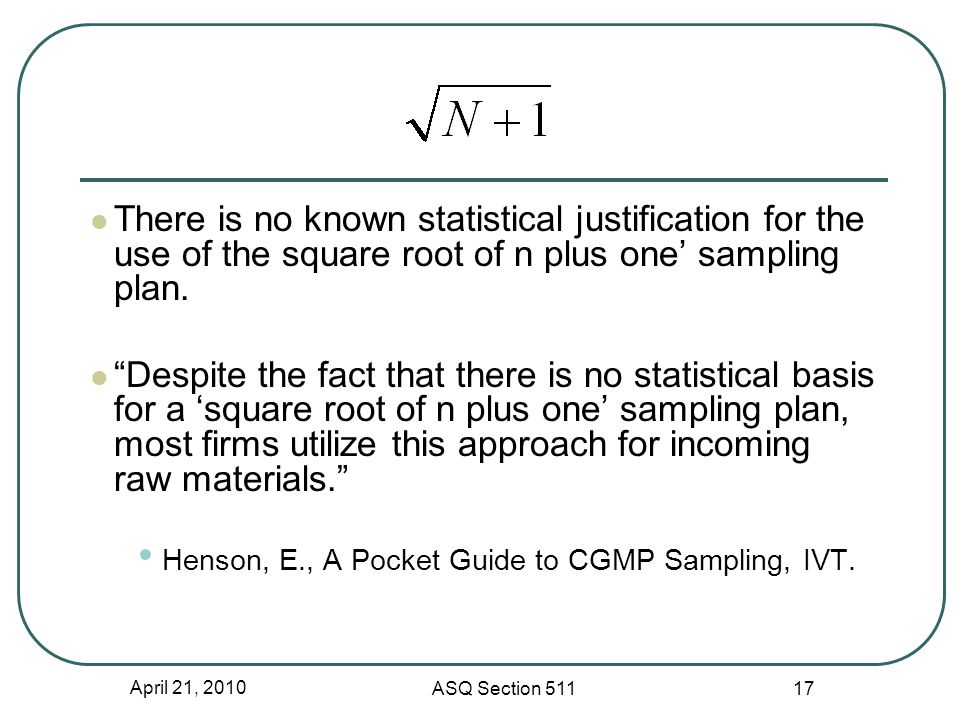 The Odds Are Against Auditing Statistical Sampling Plans ...   960 x 720 jpeg 79kB