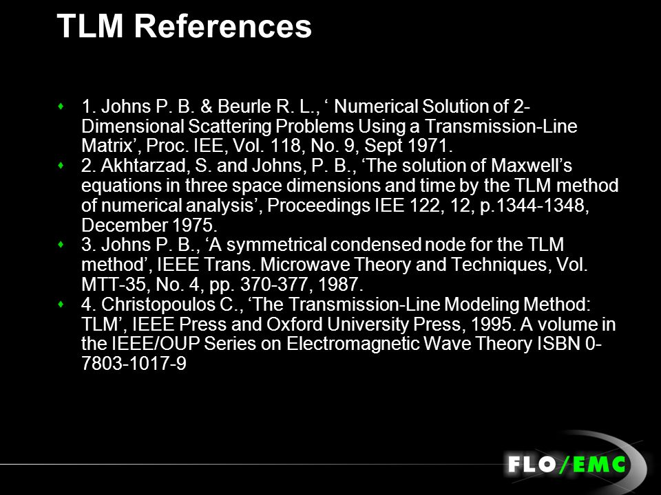 TLM References