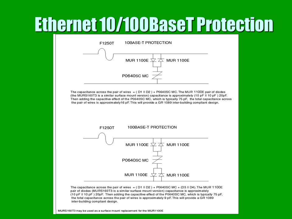 Ethernet 10/100BaseT Protection
