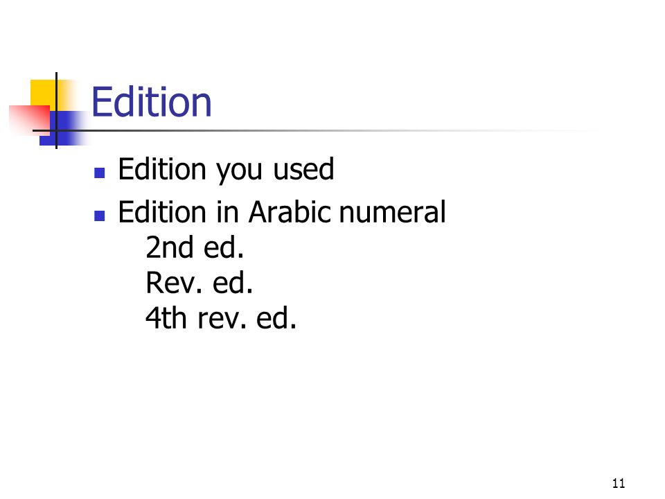 Edition Edition you used