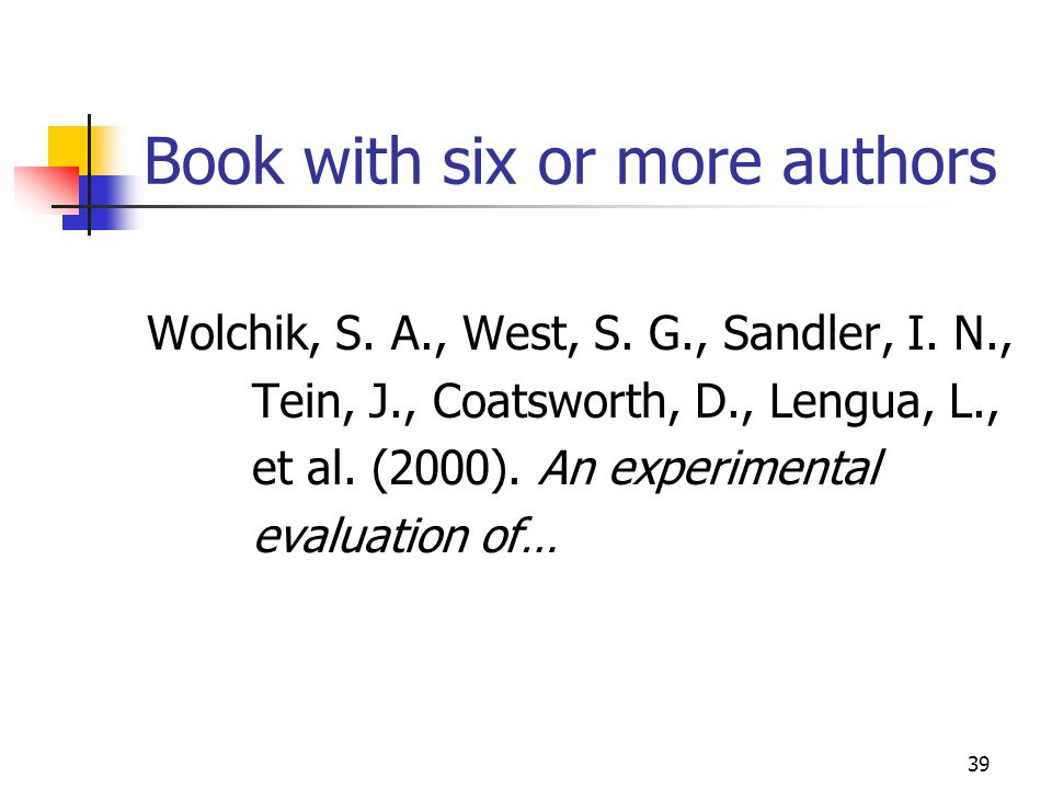 Book with six or more authors