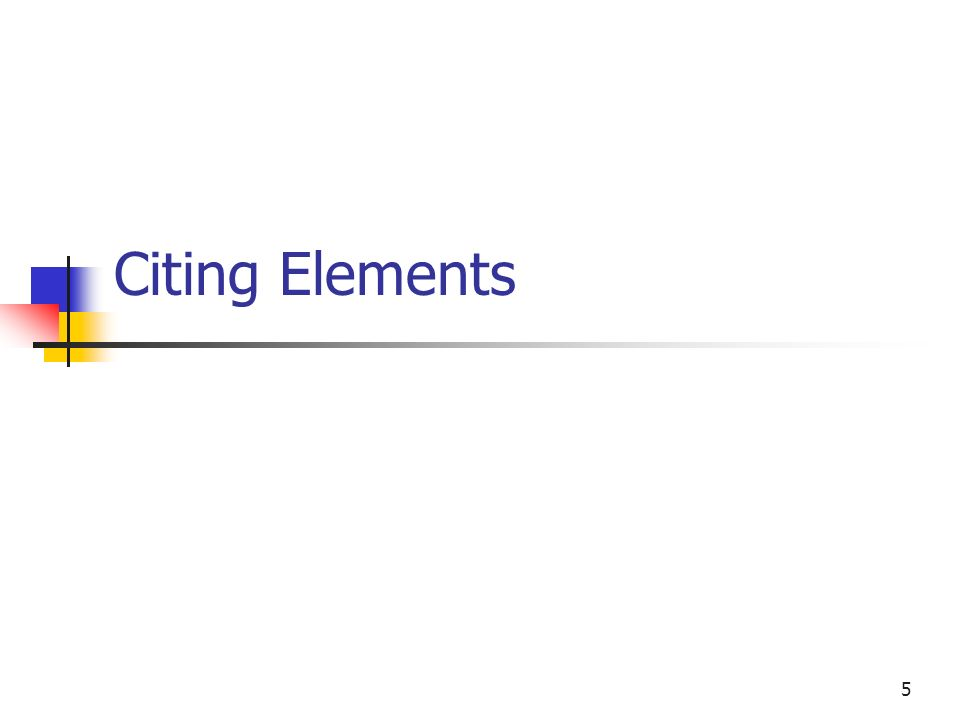 Citing Elements