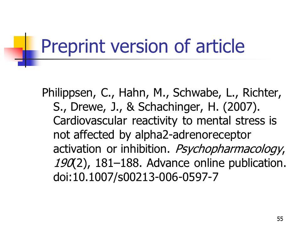 Preprint version of article