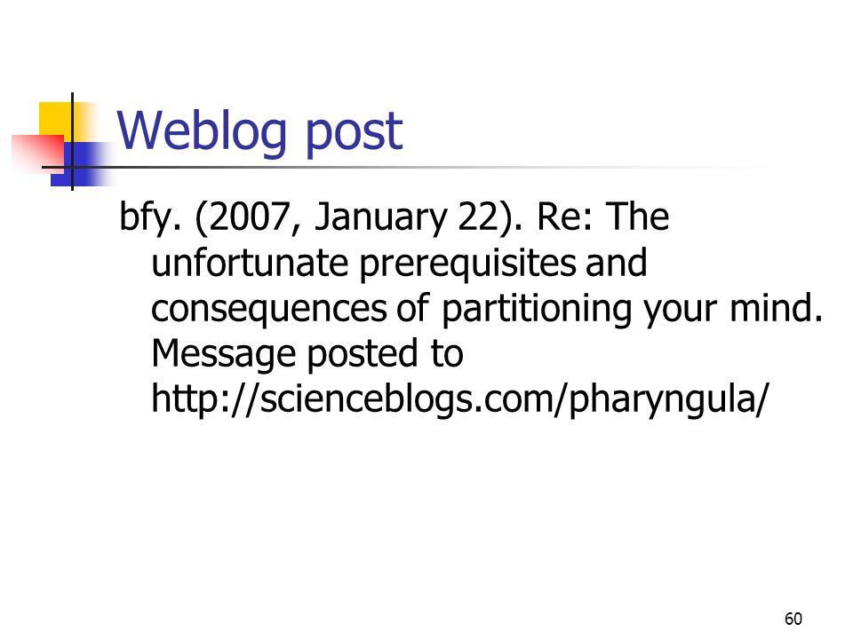 Weblog post