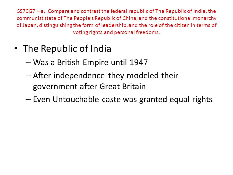 The Republic of India Was a British Empire until 1947