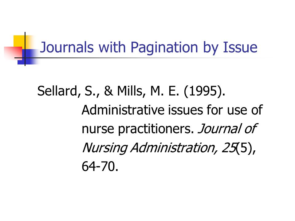 Journals with Pagination by Issue