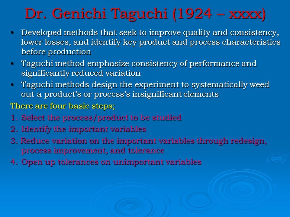 taguchi methods design of experiments pdf